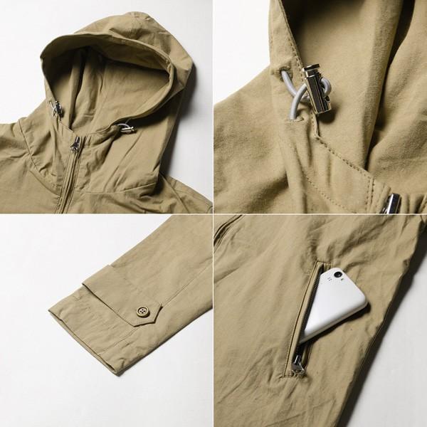高密度 ツイル ジップアップ フード ブルゾン ジャケット メンズ|soyous|06