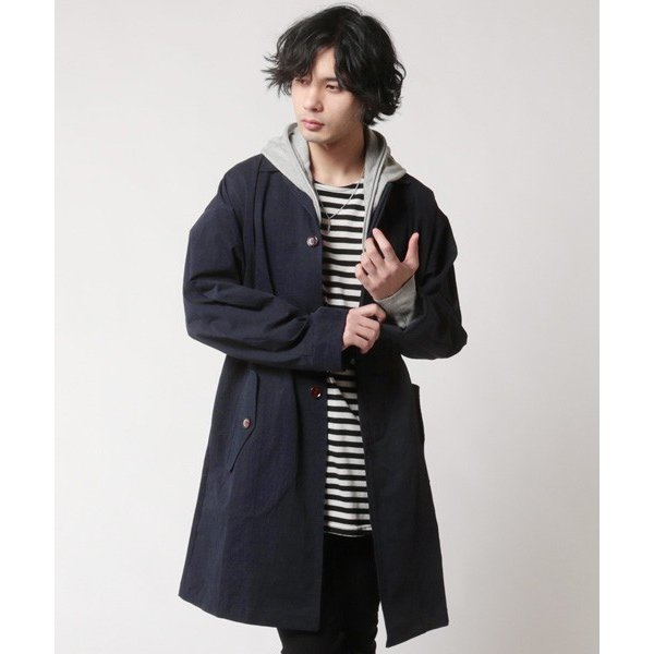 オーバーサイズ ステンカラー コート メンズ soyous 04