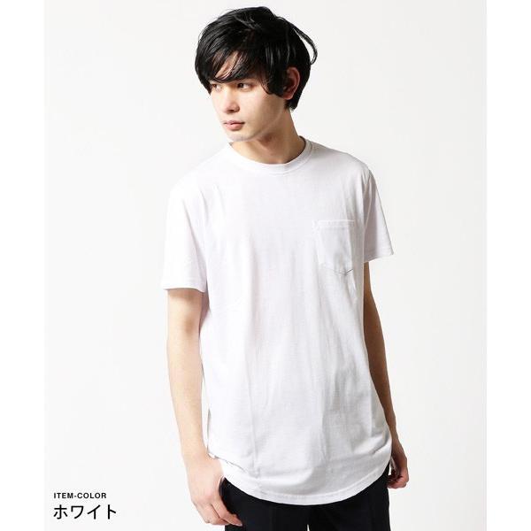 ポケット 付き 無地 ビッグサイズ 半袖 Tシャツ メンズ|soyous|02
