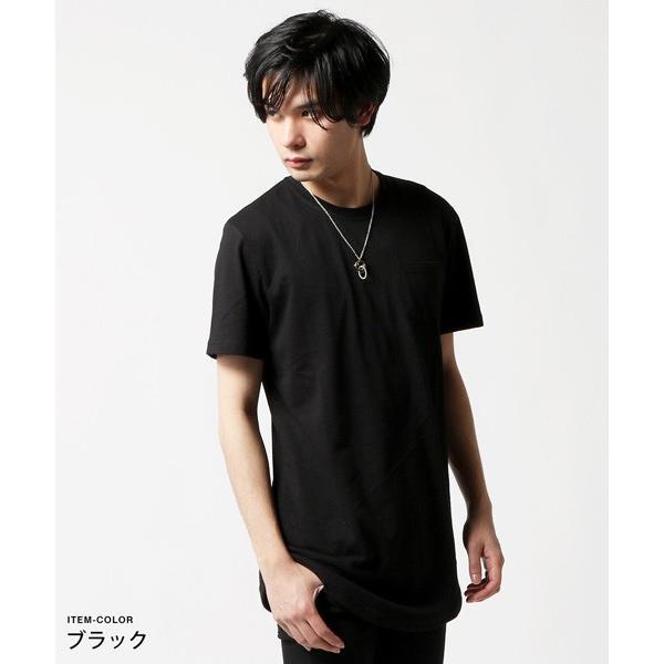 ポケット 付き 無地 ビッグサイズ 半袖 Tシャツ メンズ|soyous|03