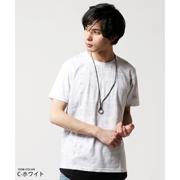 Buyer's Select 総柄裏プリントビッグサイズ半袖Tシャツ|soyous|04