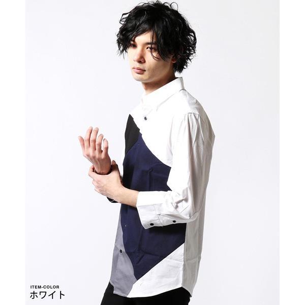 7分袖 シャツ メンズ 切り替え デザイン soyous 04