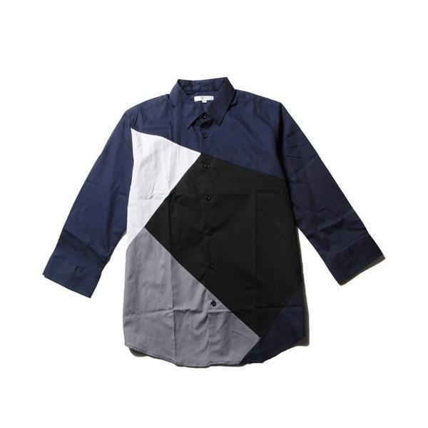 7分袖 シャツ メンズ 切り替え デザイン soyous 05