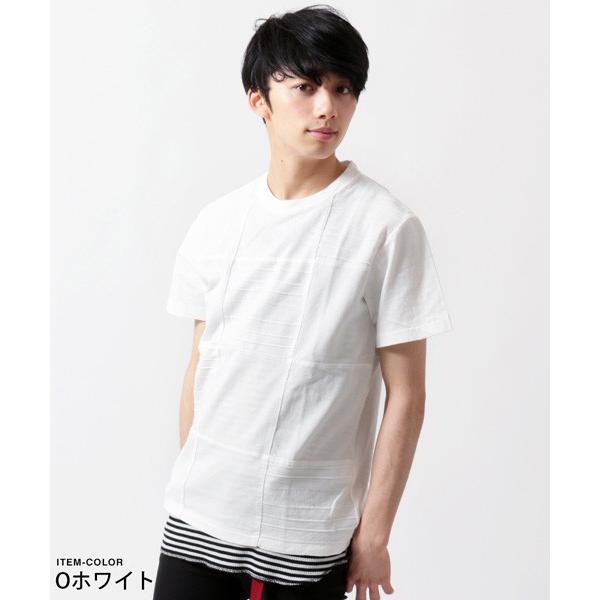 パネル 切り替え ピグメント 染め 半袖 Tシャツ メンズ|soyous|02
