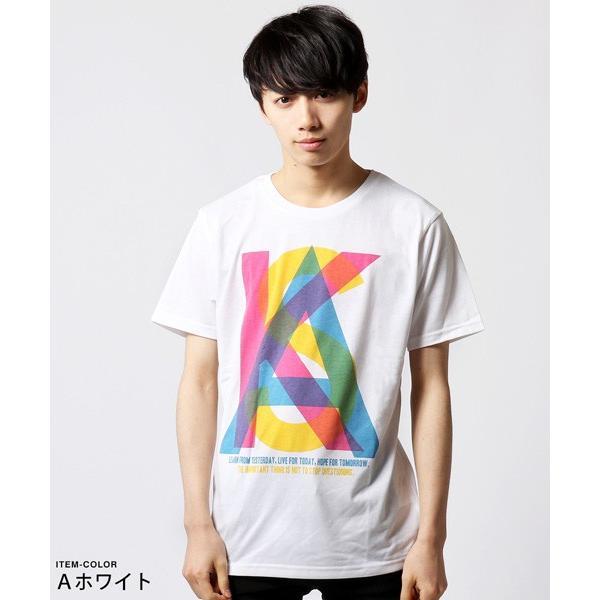 カラー プリント 半袖 Tシャツ メンズ|soyous|02