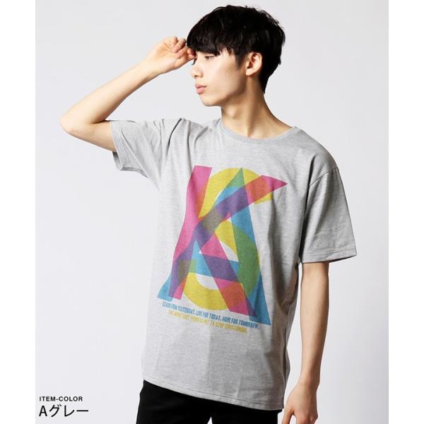 カラー プリント 半袖 Tシャツ メンズ|soyous|03