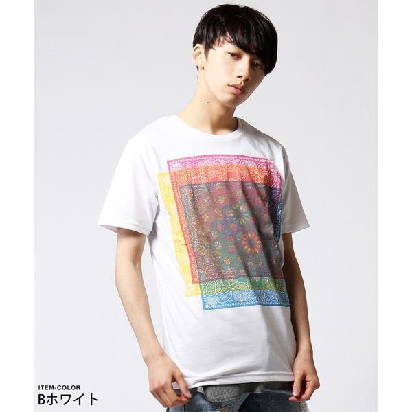 カラー プリント 半袖 Tシャツ メンズ|soyous|04
