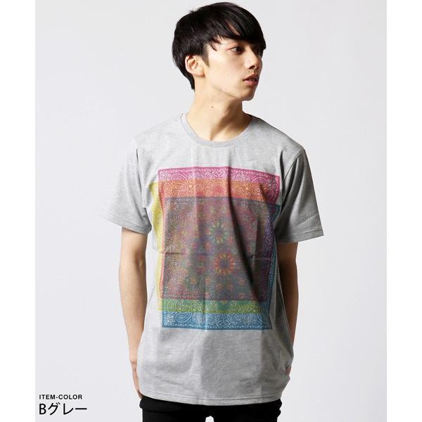 カラー プリント 半袖 Tシャツ メンズ|soyous|05