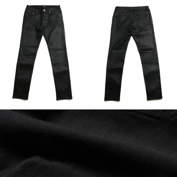 コーティング ブラック パンツ メンズ ストレッチ|soyous|03