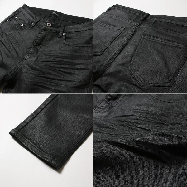 コーティング ブラック パンツ メンズ ストレッチ|soyous|04