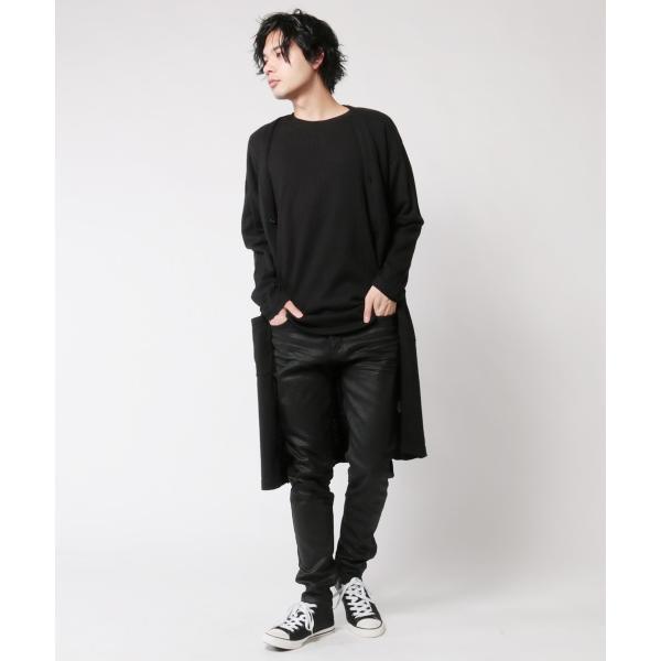 コーティング ブラック パンツ メンズ ストレッチ|soyous|06