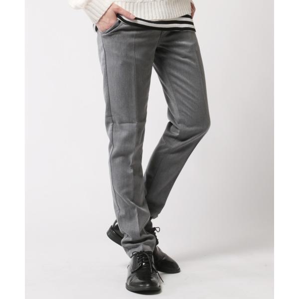 TR ストレッチ スラックス パンツ メンズ センタープリーツ スーツ地 スリム|soyous|03