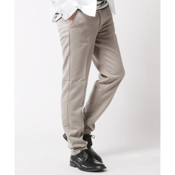 TR ストレッチ スラックス パンツ メンズ センタープリーツ スーツ地 スリム|soyous|05