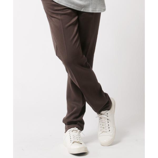 TR ストレッチ スラックス パンツ メンズ センタープリーツ スーツ地 スリム|soyous|06