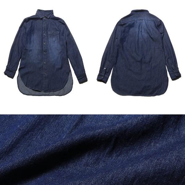 6.5オンス スラブデニム レギュラーカラー ロングシャツ メンズ|soyous|06