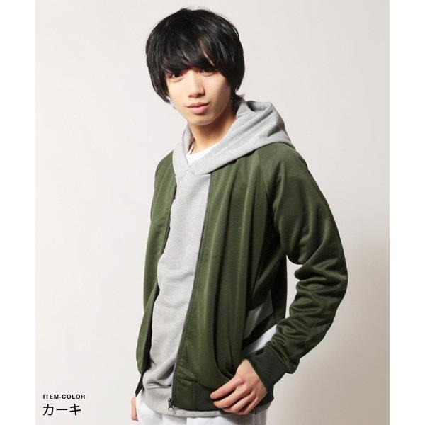 ポリジャージ トラック スーツ ジャケット メンズ|soyous|04