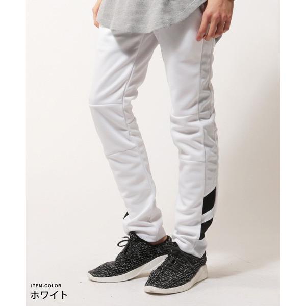 ポリジャージ ロング スキニー パンツ メンズ|soyous|02