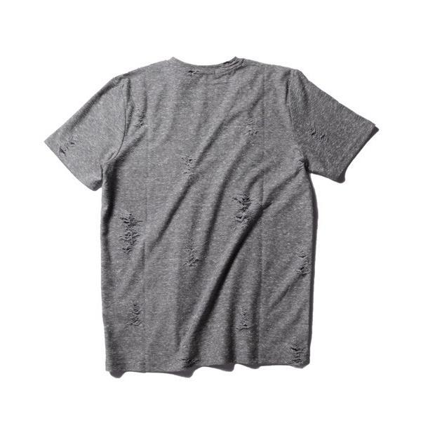 ダメージ クラッシュ リペア 加工 Vネック 半袖 Tシャツ カットソー メンズ|soyous|06