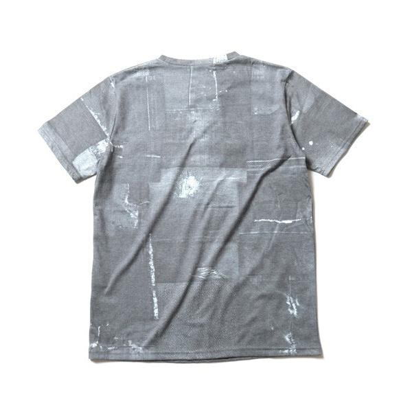 デニム パッチワーク プリント 半袖 Tシャツ メンズ soyous 06