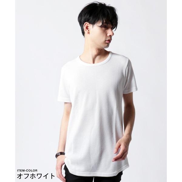 鬼 鹿の子 ゆる クルーネック 半袖 Tシャツ メンズ|soyous|02