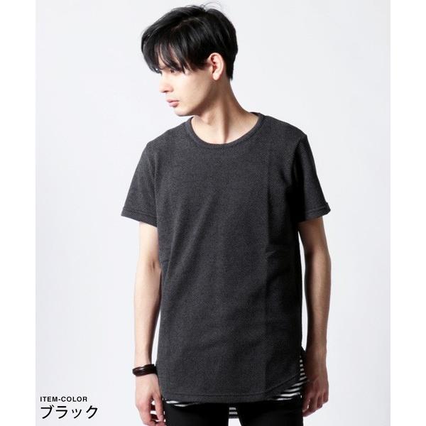鬼 鹿の子 ゆる クルーネック 半袖 Tシャツ メンズ|soyous|03