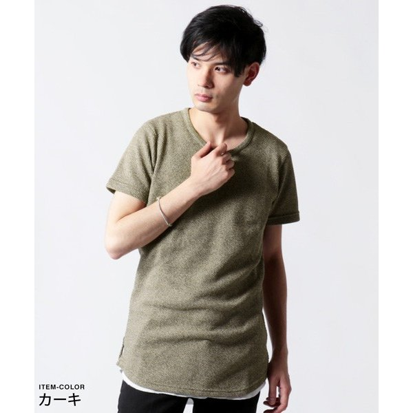 鬼 鹿の子 ゆる クルーネック 半袖 Tシャツ メンズ|soyous|05