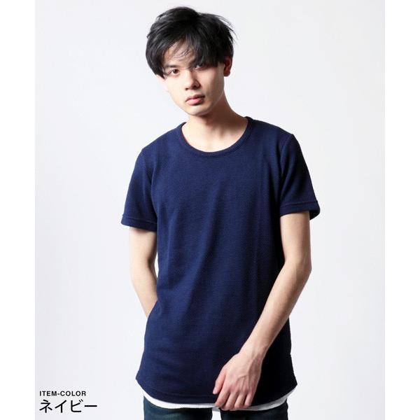 鬼 鹿の子 ゆる クルーネック 半袖 Tシャツ メンズ|soyous|06