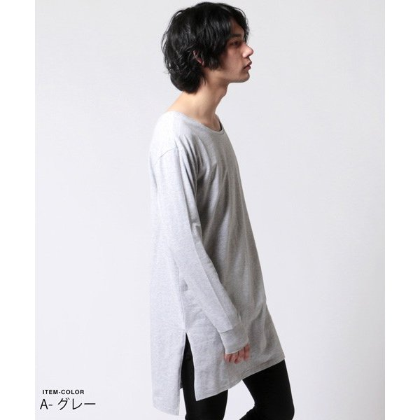 ロング レングス 長袖 カットソー メンズ|soyous|03