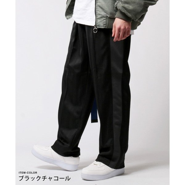 シャドーストライプ ボーダー ライン ジャージー パンツ メンズ|soyous|03