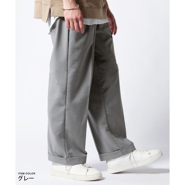 ストレッチ TR ワイド パンツ メンズ|soyous|03