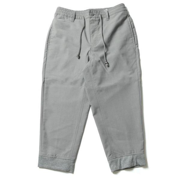 TR 裾 リブ クロップド パンツ メンズ|soyous|05