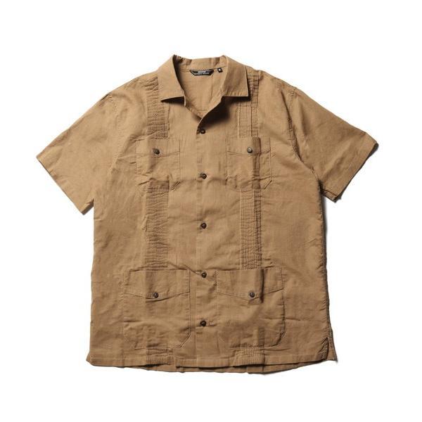 綿麻 ピンタック 半袖 キューバシャツ メンズ|soyous|05