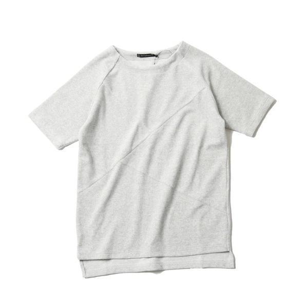 撚り杢 パイル  ブロッキング 半袖 Tシャツ カットソー メンズ|soyous|04