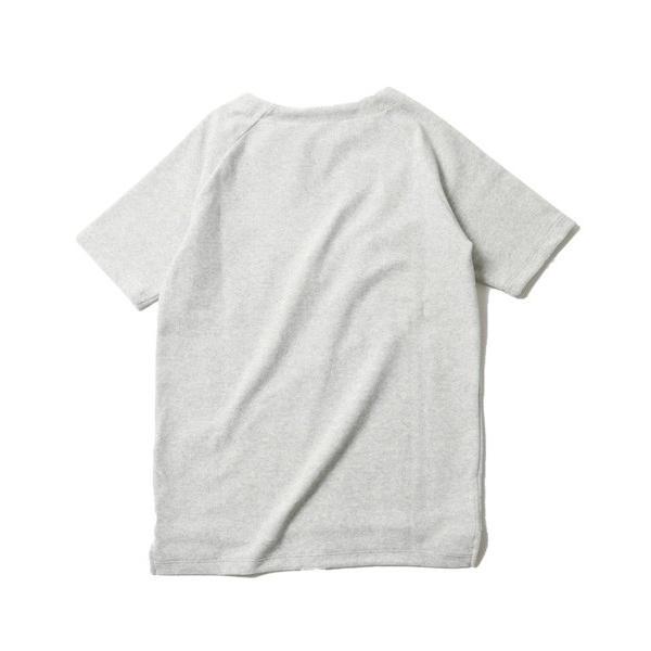 撚り杢 パイル  ブロッキング 半袖 Tシャツ カットソー メンズ|soyous|05