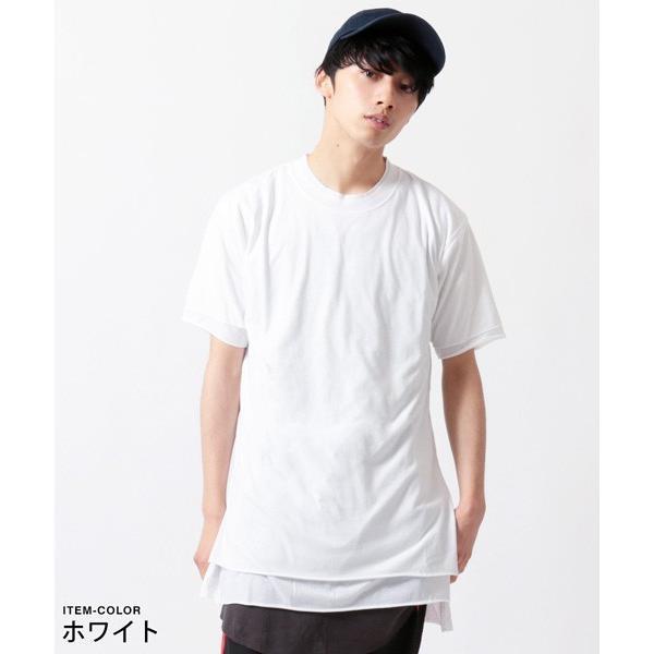 カットオフ フェイクレイヤード 半袖 Tシャツ メンズ|soyous|04