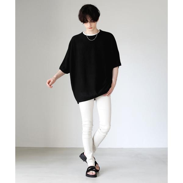 スキニー メンズ スーパー ストレッチ スキニーパンツ 黒 ロングパンツ パンツ ブラック ストレッチパンツ ボトムス soyous 12