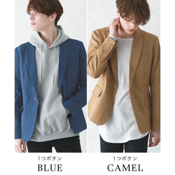 テーラードジャケット メンズ ジャケット ブレザー テーラード メンズ 長袖 春 夏 メンズ 送料無料|soyous|16