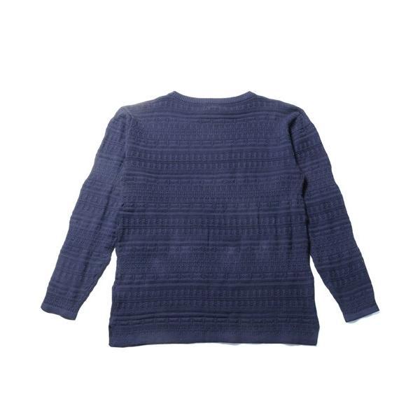 メンズ ニット 春 メンズファッション 総柄 リンクス編み 綿100% 長袖 クルーネック スプリング リラックス シルエット ニット soyous 06