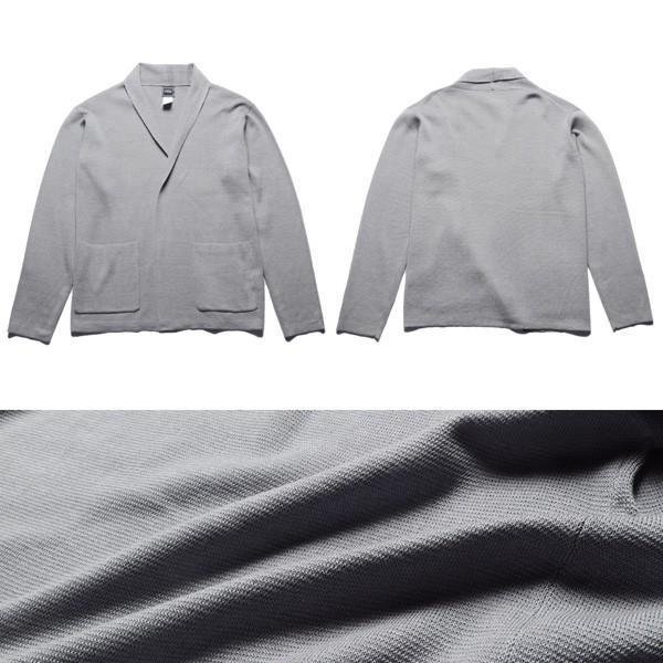 ミラノリブ ニット カーディガン メンズ ショート丈|soyous|05