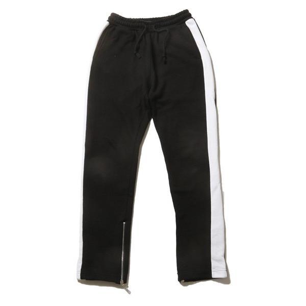 サイドライン 裾ZIP テーパード パンツ メンズ|soyous|03