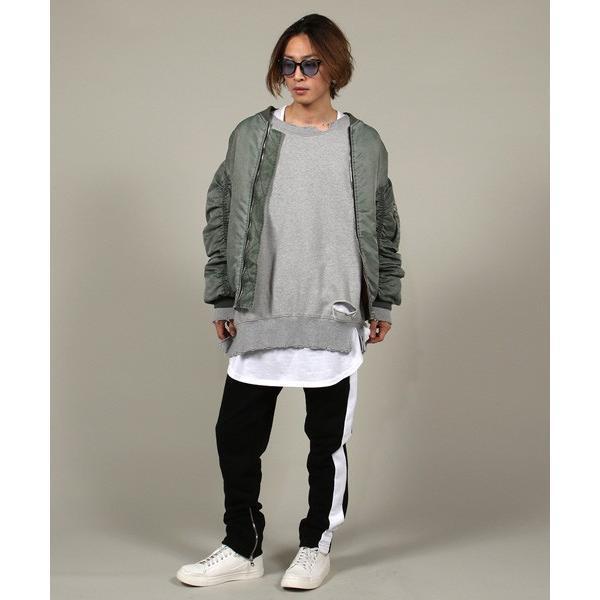 サイドライン 裾ZIP テーパード パンツ メンズ|soyous|05