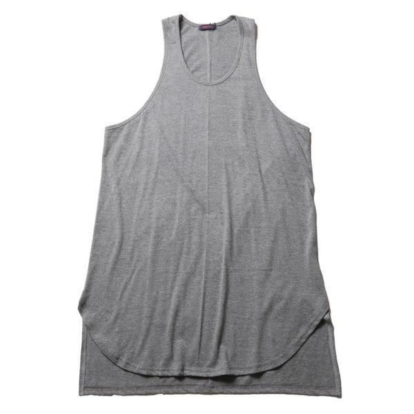 ロング タンクトップ 裾ラウンド スリット メンズ|soyous|05