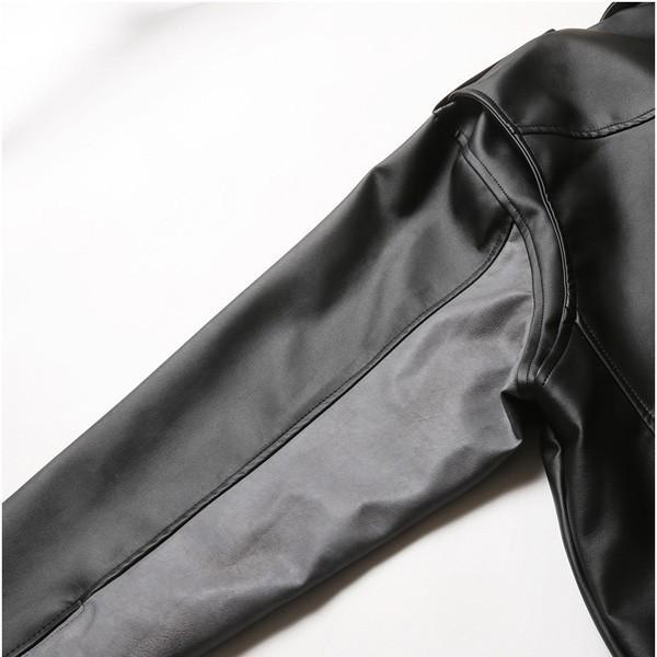ビッグシルエット PU ダブルライダース ジャケット メンズ|soyous|05