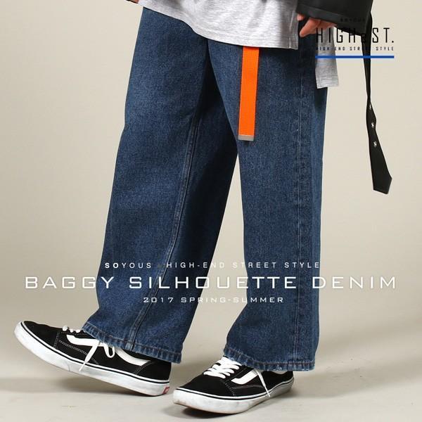 バギー シルエット デニム パンツ メンズ|soyous