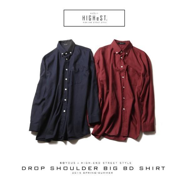 ビッグサイズ ドロップ ショルダー BD シャツ メンズ|soyous|06