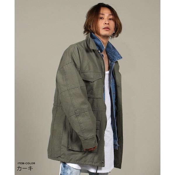 ビッグ シルエット M65 ミリタリー ジャケット メンズ|soyous|02
