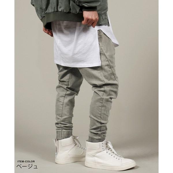 USED 加工 テーパード ジョガー パンツ メンズ|soyous|02