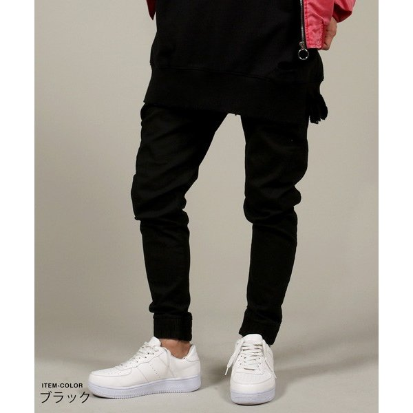 USED 加工 テーパード ジョガー パンツ メンズ|soyous|03