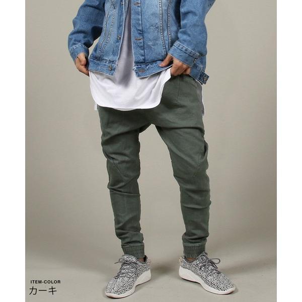 USED 加工 テーパード ジョガー パンツ メンズ|soyous|05
