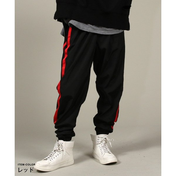 90sライク ナイロン トレーニングパンツ ジャージーパンツ ロングパンツ ボトムス メンズファッション|soyous|03